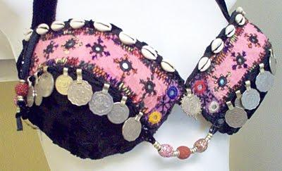 Dark Bright Pink Kuchi Style Halter Bra