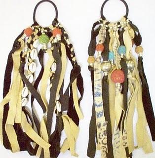 Velvet Suede Beaded Native Style Hair Tassels