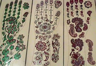 Imported Temporary Glitter Hand Tattoos